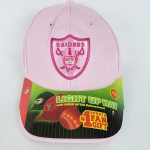 NWT Raiders NFL Pink Light Up Baseball Cap